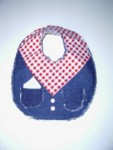 Bib - Denim / Red Check
