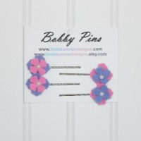 Bobby Pin  - Pink Lavender Flower